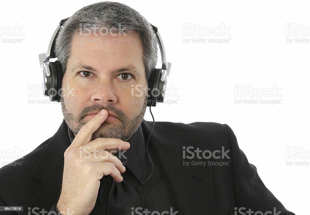 Man with Headphones royalty-free stock photo