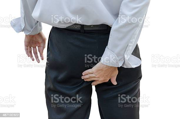 Man With Hemorrhoids Stock Photo - Download Image Now
