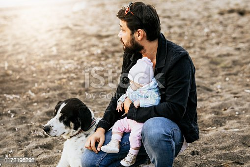 istock Man with his dog 1172198292