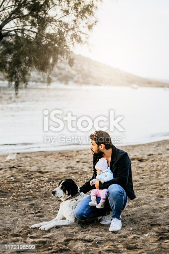 istock Man with his dog 1172198599