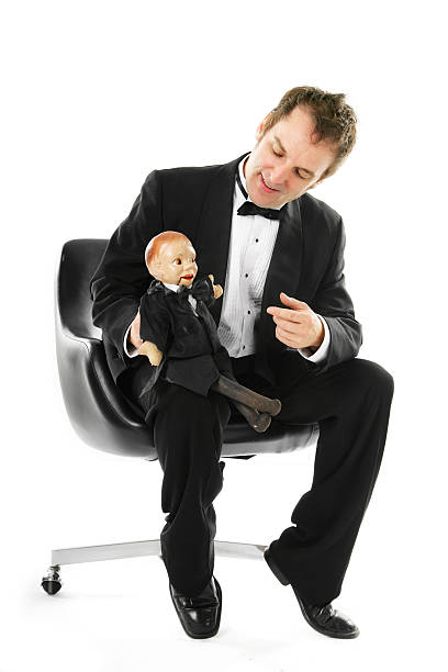 Man with his puppet