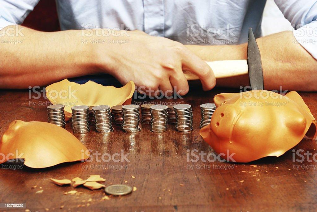 man with his savings stock photo