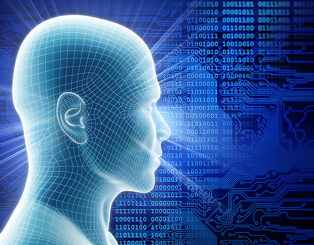 man with hi-tech cyber theme - free images for downloads stock photos and pictures