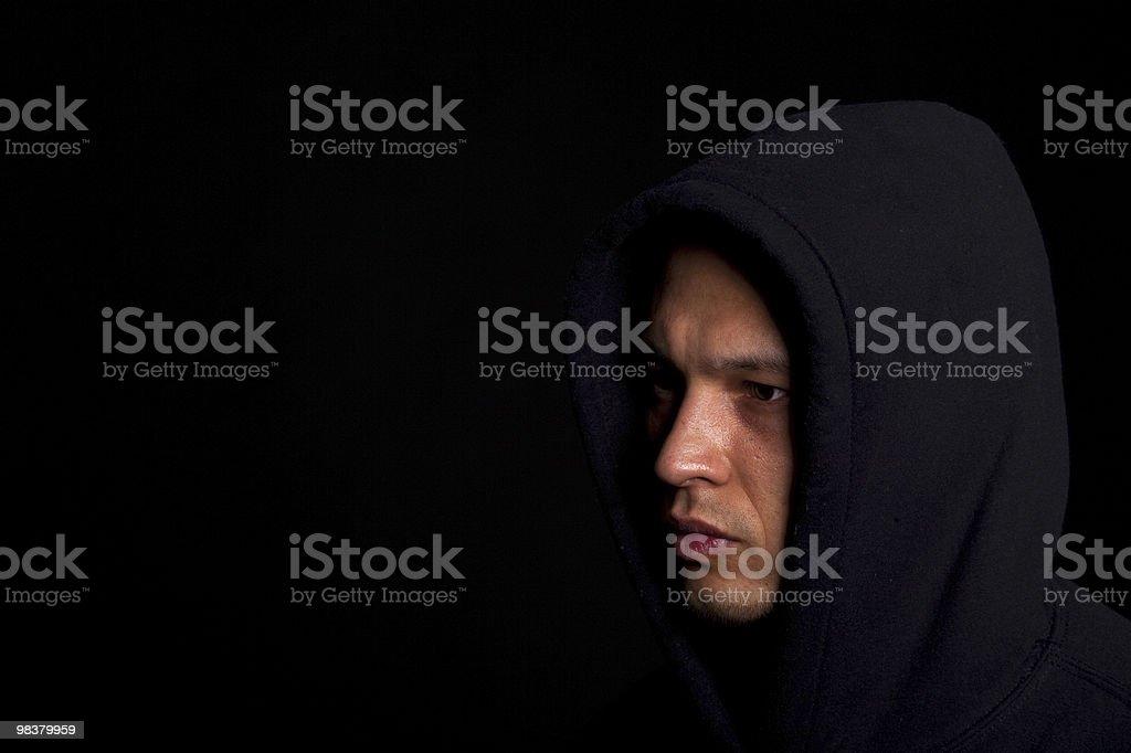 Man with hoddie royalty-free stock photo