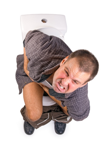 Man With Intestinal Problems Stock Photo - Download Image Now