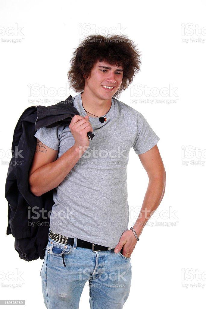 Man with Jacket royalty-free stock photo