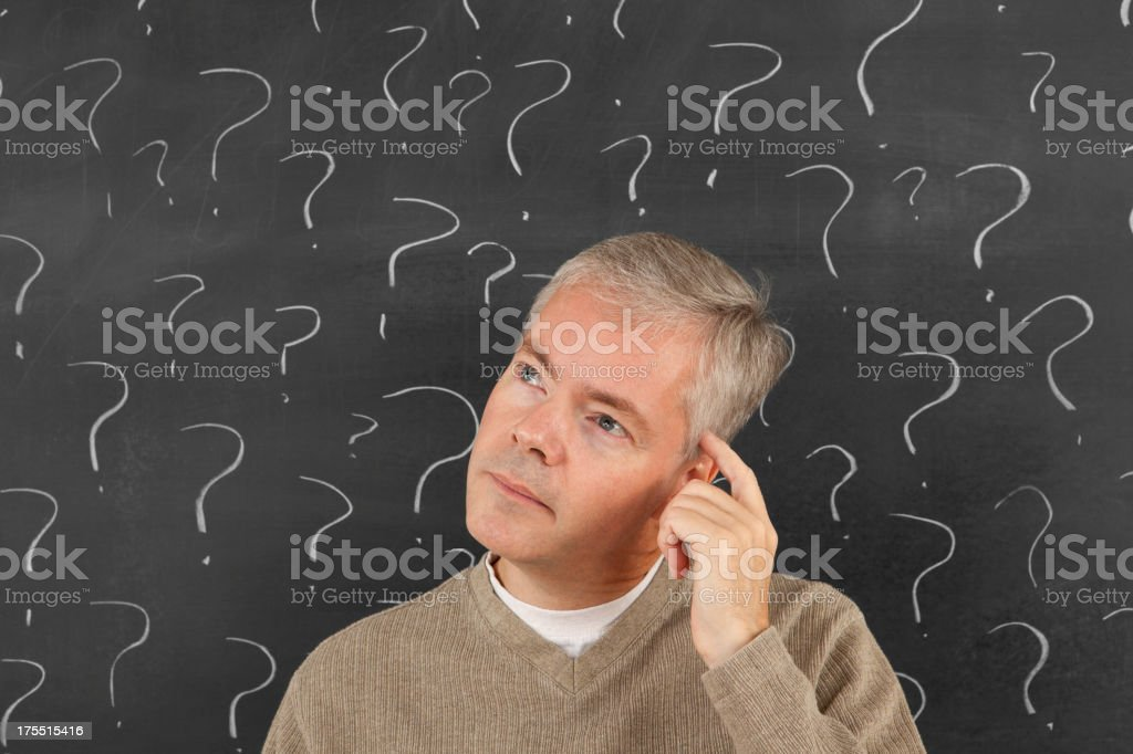 Man With Lots of Questions royalty-free stock photo