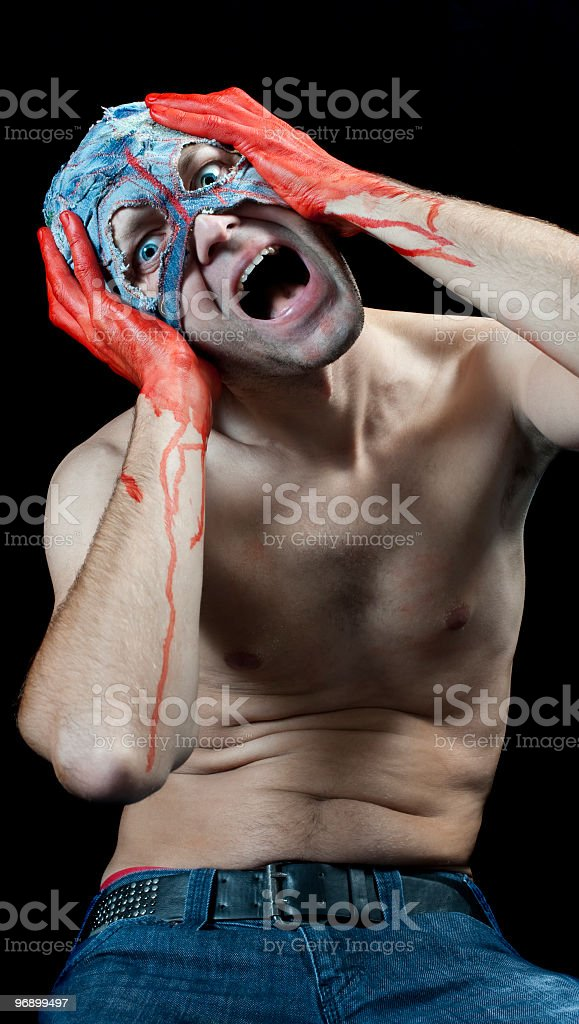man with mask royalty-free stock photo