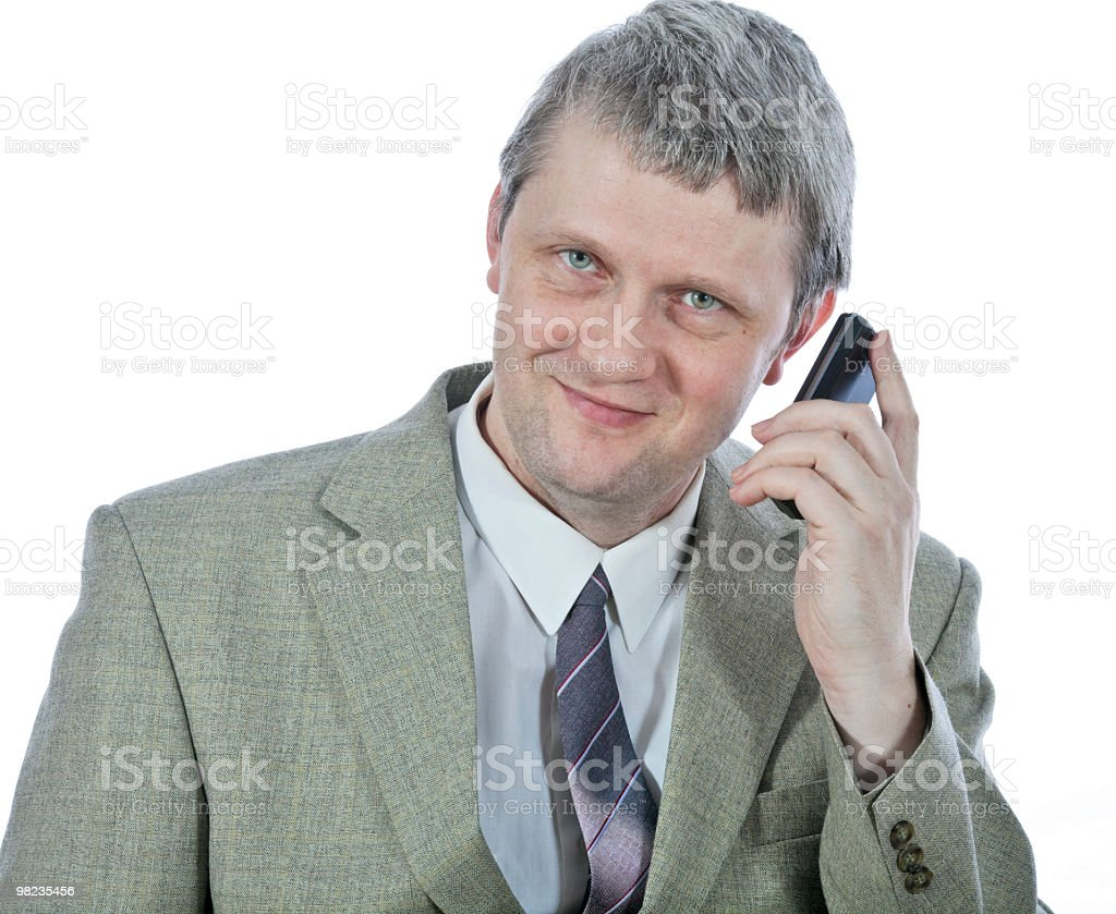 Man with mobile royalty-free stock photo