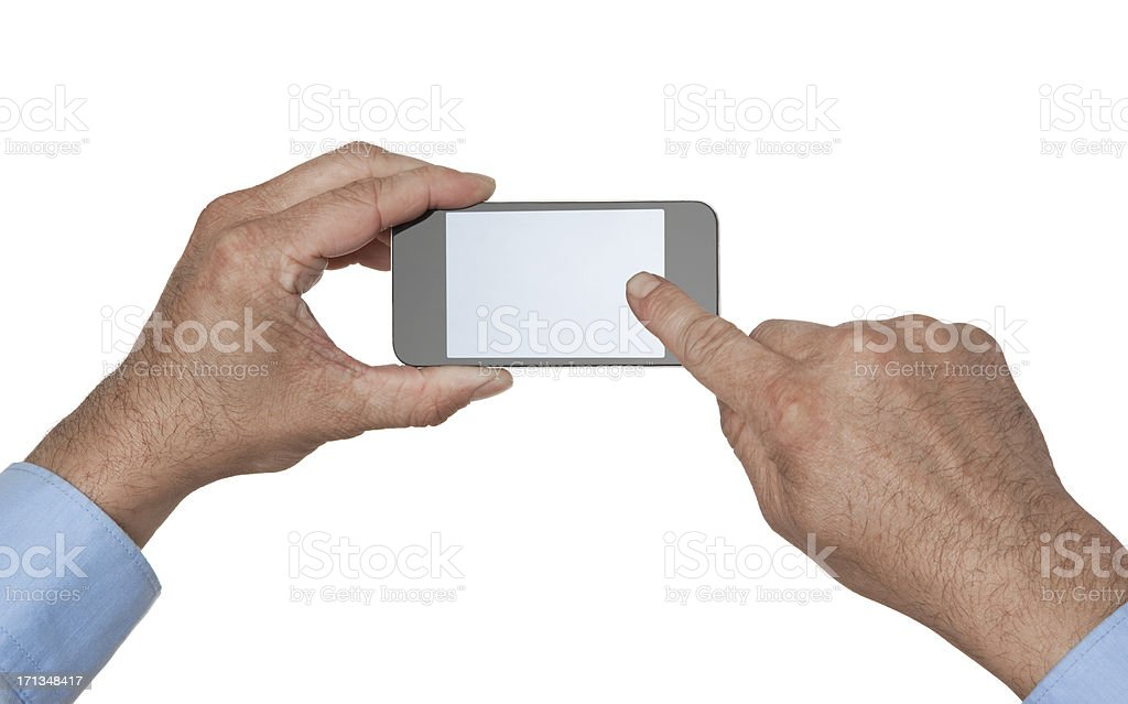Man With Mobile Smart Phone royalty-free stock photo