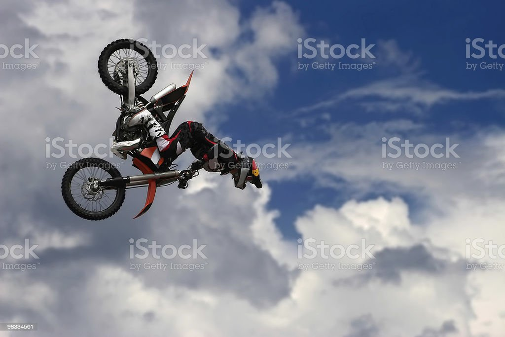 man with motorcycle royalty-free stock photo