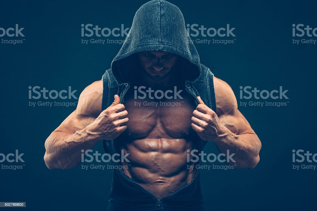 Man With Muscular Torso Strong Athletic Men Fitness Model Torso