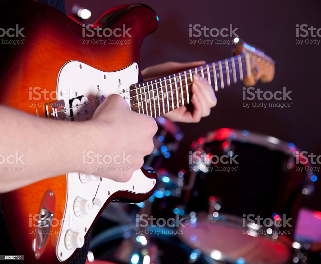 man with musical instrument royalty-free stock photo