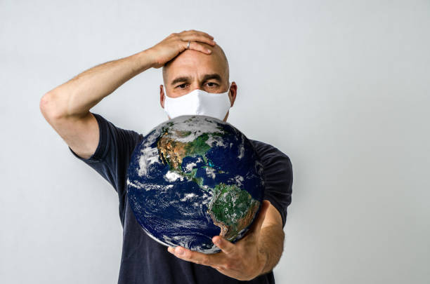 Man with N95 cotton face Mask