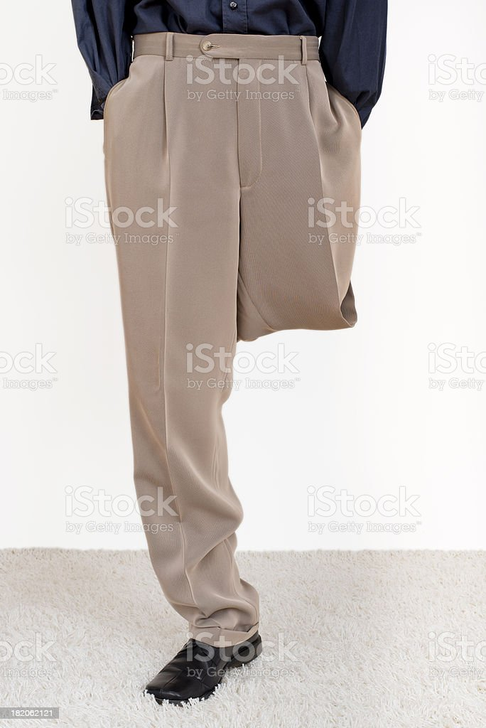 man with one leg stock photo