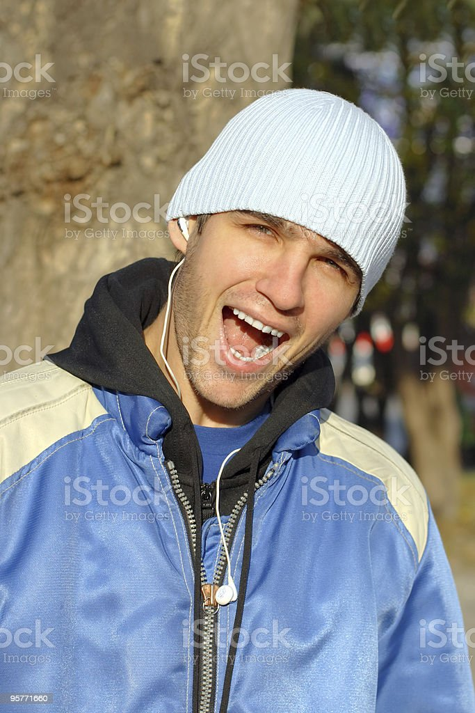 man with open mouth royalty-free stock photo