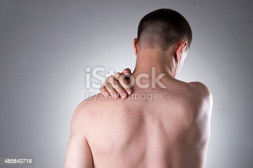 578088054istockphoto Man with pain in shoulder. Pain in the human body 485840716
