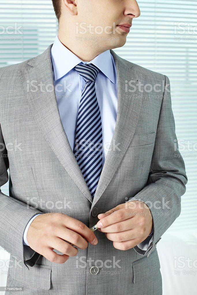 Man with pen royalty-free stock photo
