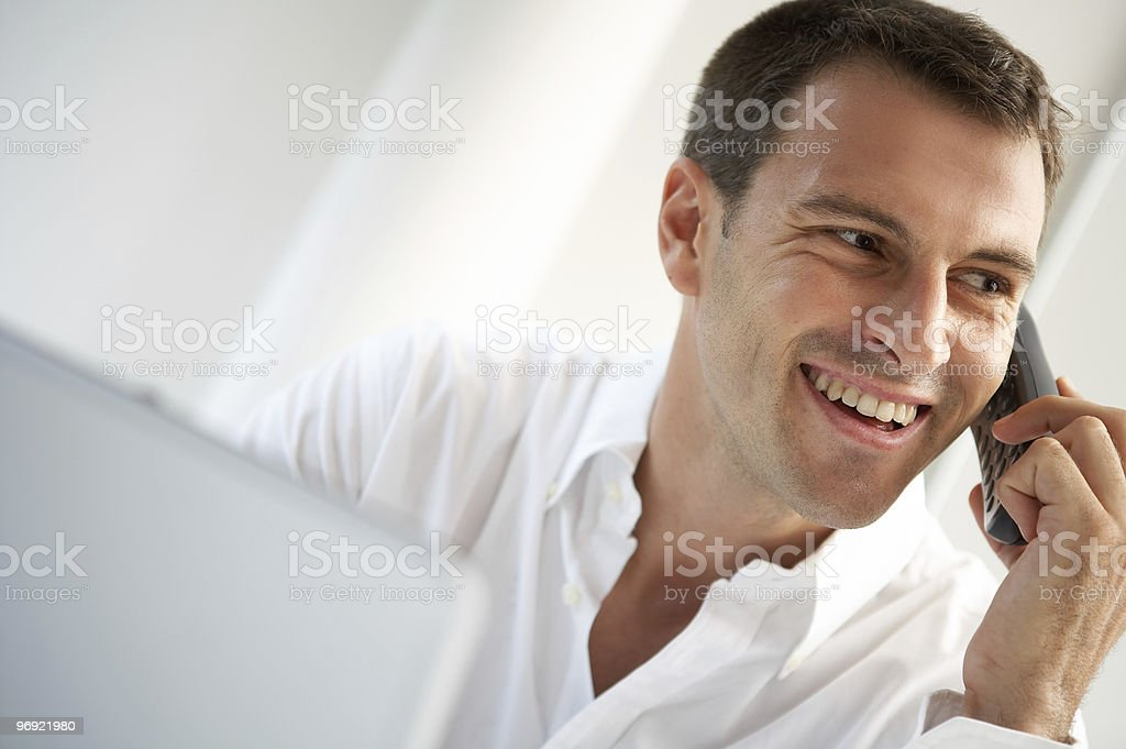 man with phone royalty-free stock photo