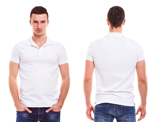 Man with polo shirt stock photo
