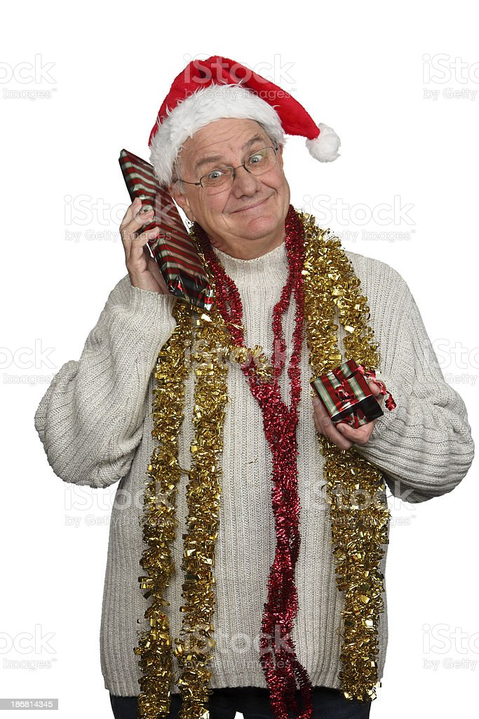 Man with Presents royalty-free stock photo