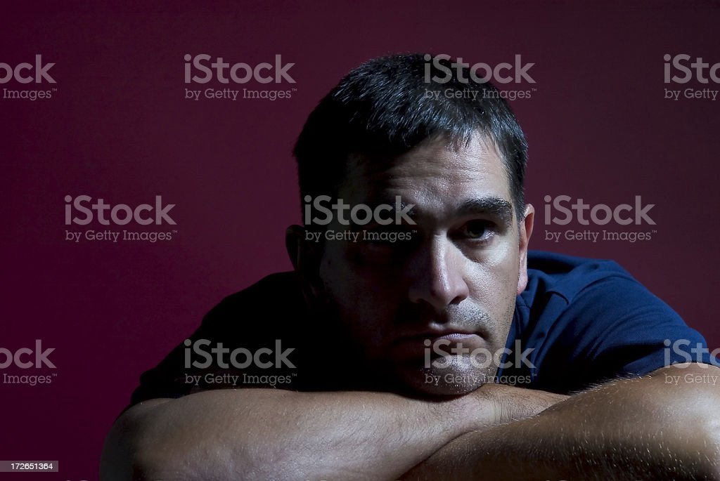 Man with red backround royalty-free stock photo