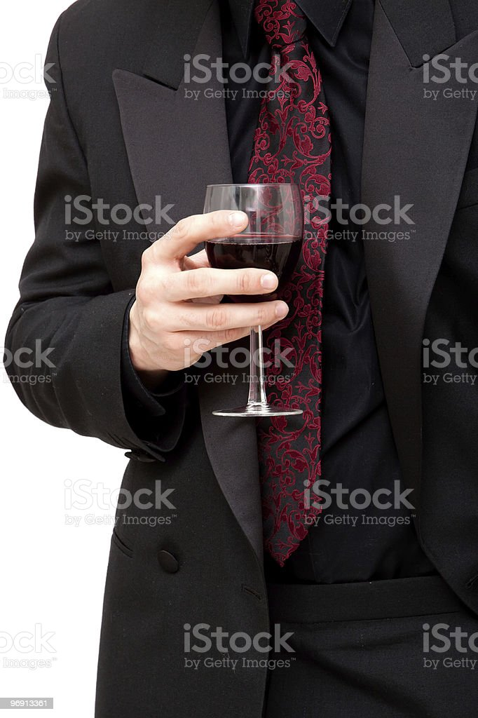 Man with red wine royalty-free stock photo