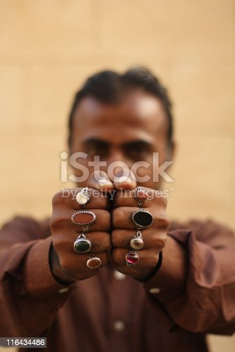 istock Man with Rings 116434486