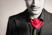 istock Man with rose 508038012