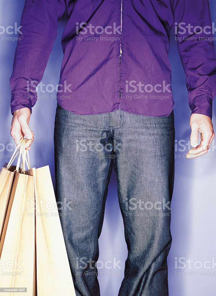 Man with shopping bags royalty-free stock photo