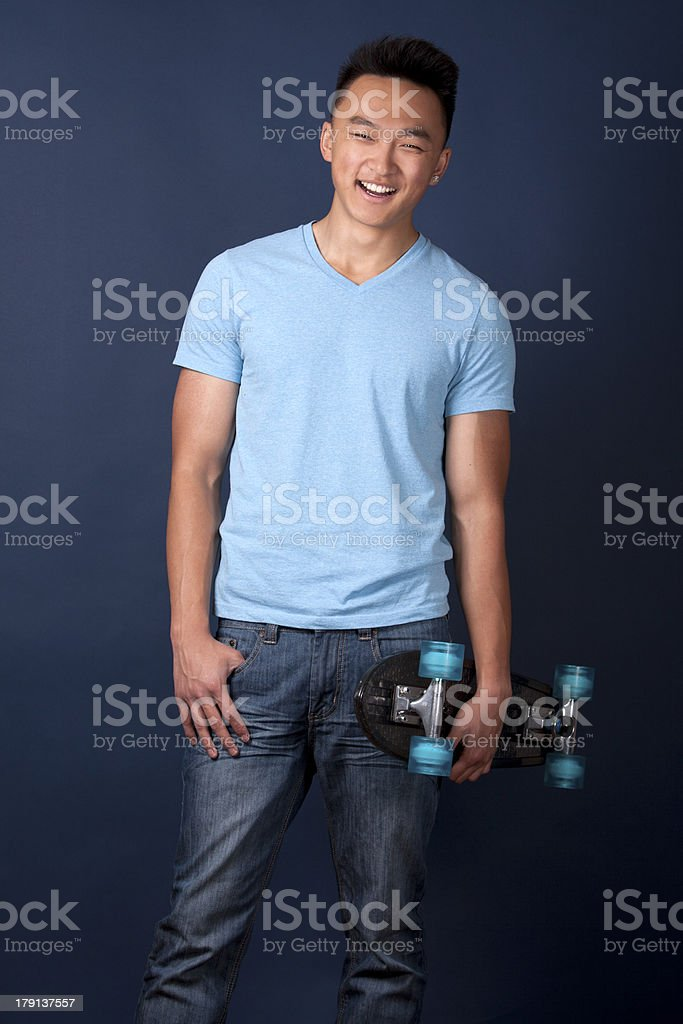 man with skateboard royalty-free stock photo