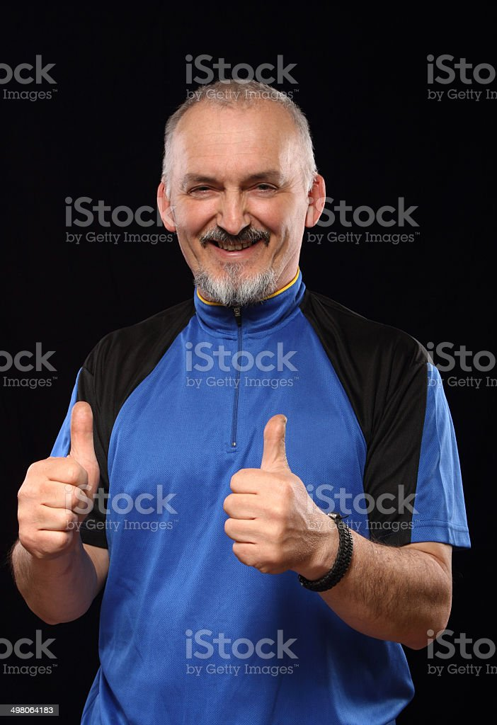 Man with smile in sport 40 - 50 year stock photo