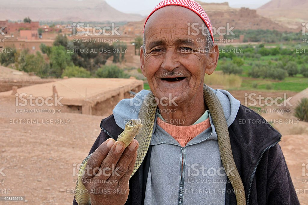 Hombre con serpiente - foto de stock