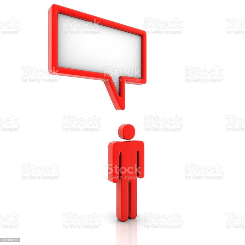 Man With Speech Bubble royalty-free stock photo