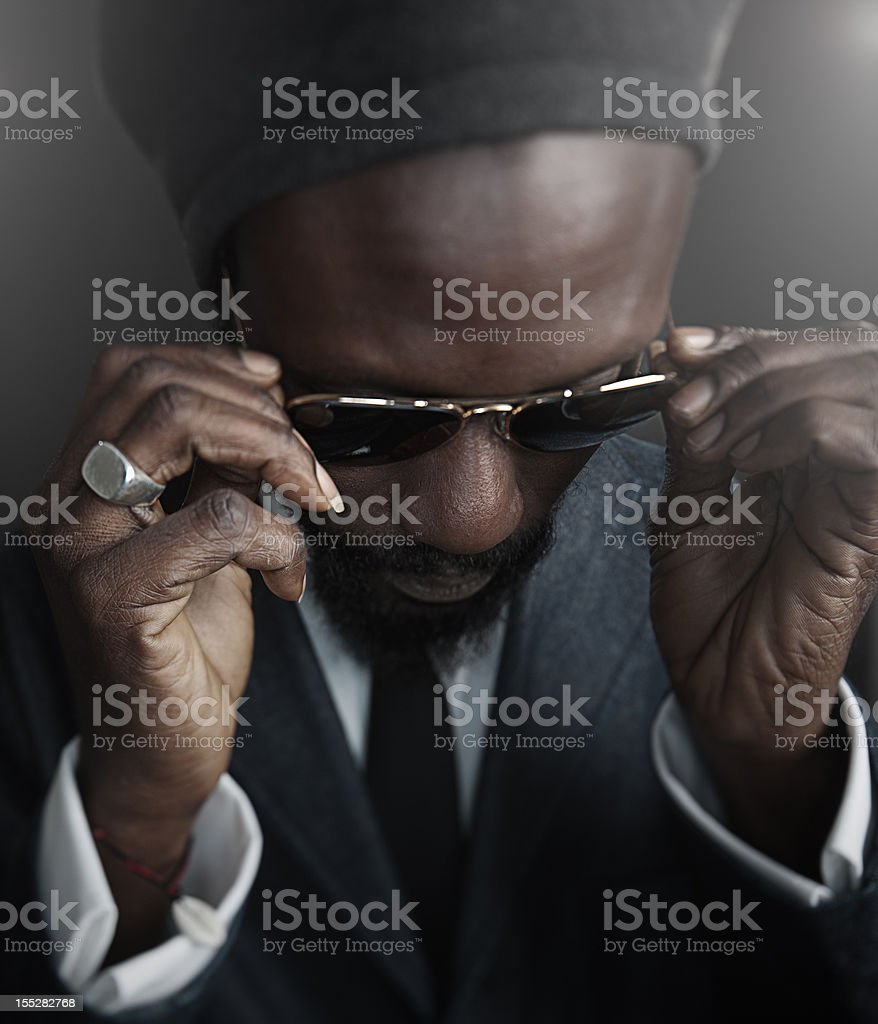 Man with sunglasses. stock photo