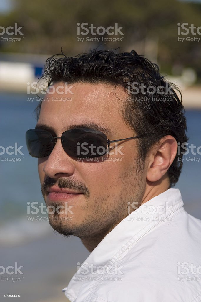 Man with Sunglasses royalty-free stock photo