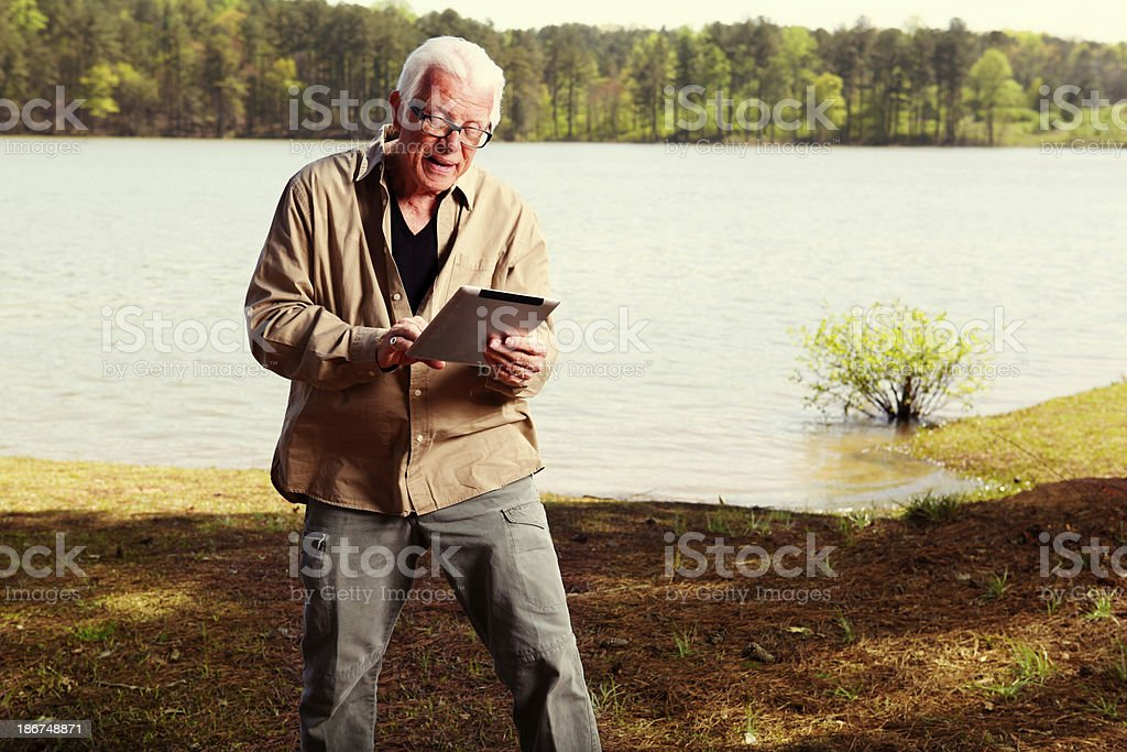 man with tablet royalty-free stock photo