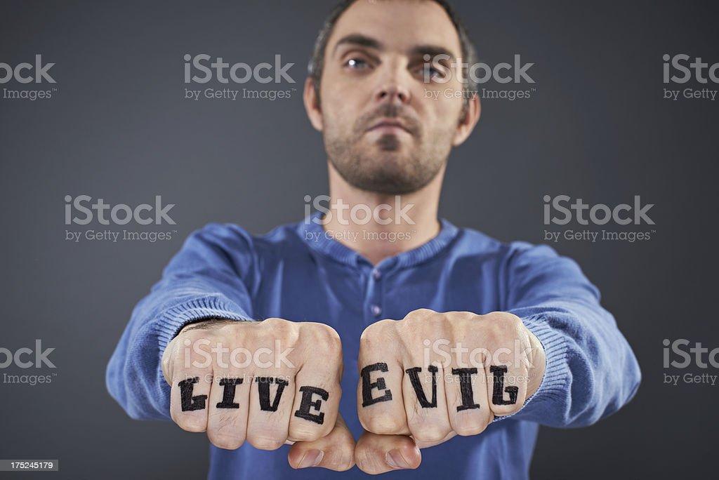 Man with tattoo stock photo