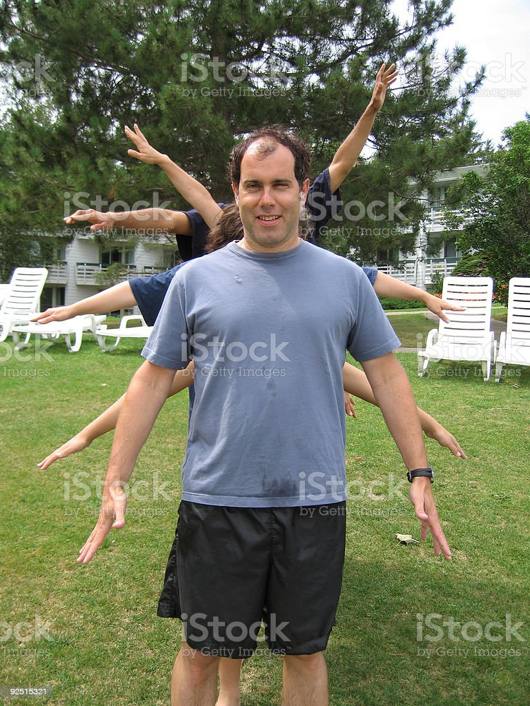 Man with Ten Arms royalty-free stock photo