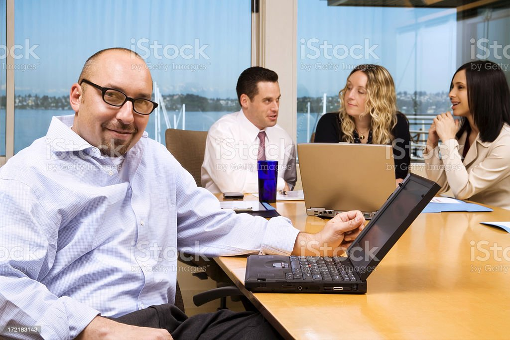 Man with The Plan royalty-free stock photo