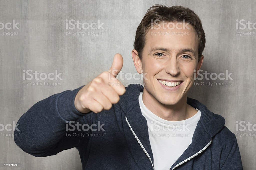 Man With Thumb Up Sign royalty-free stock photo