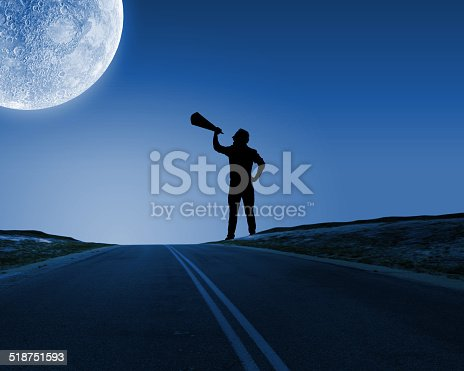 istock Man with trumpet 518751593