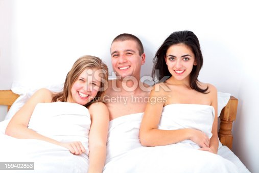 528422658 istock photo Man with two hot girls being happy for the situation 159402853