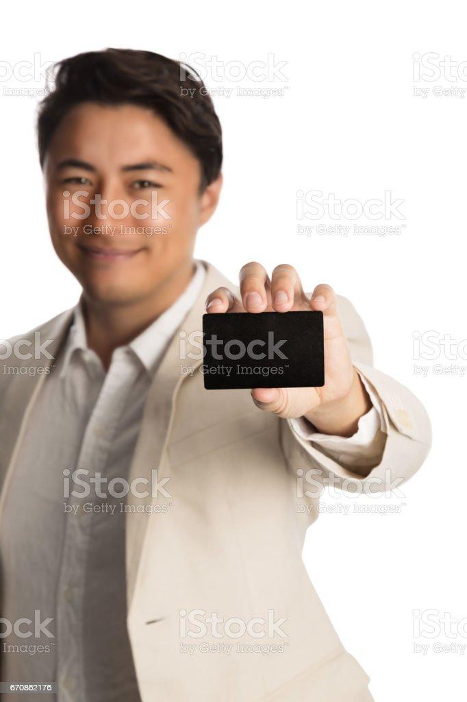 Homem com cartão VIP - foto de acervo