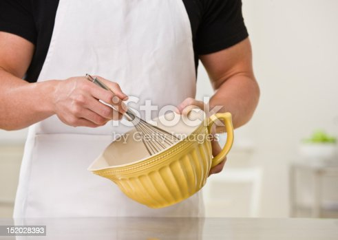 istock Man With Whisk and Bowl 152028393