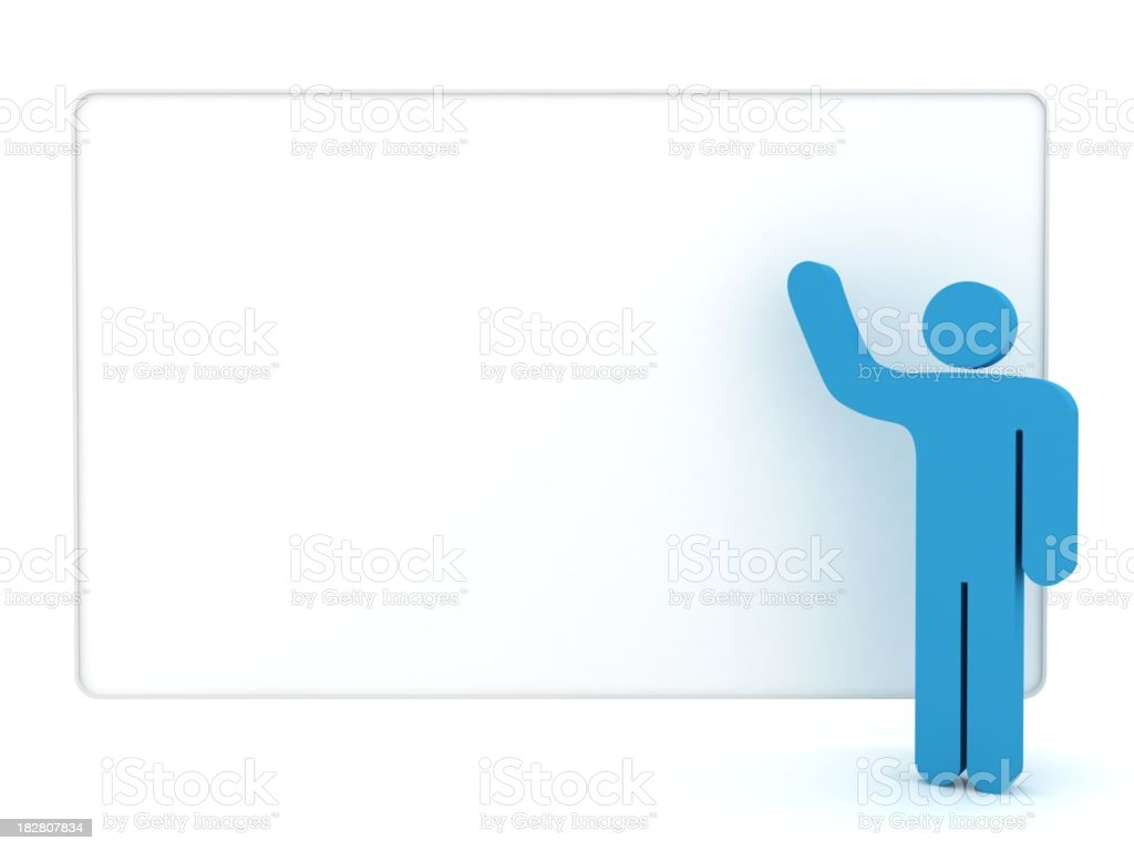 Man with Whiteboard royalty-free stock photo