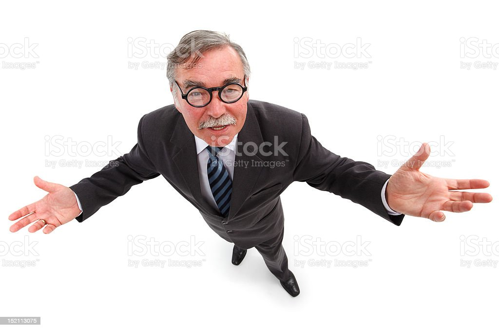 Man with wide open arms royalty-free stock photo