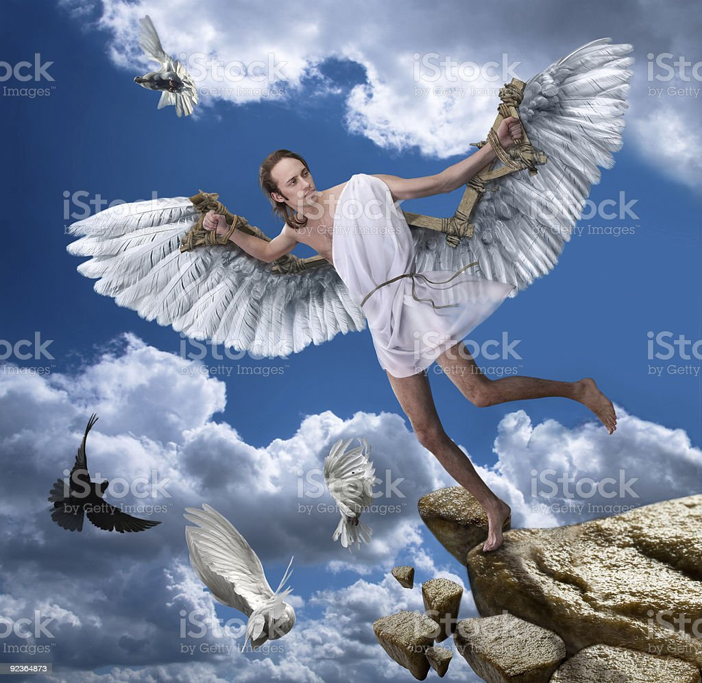 IKAR man with wings royalty-free stock photo
