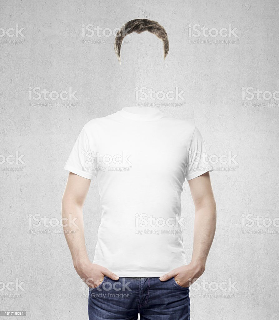 man without head royalty-free stock photo