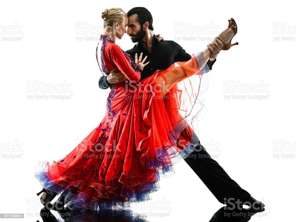 Homme femme couple salle de bal tango salsa danseur - Nom de danse de salon ...